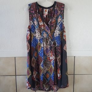 Johnny Was floral patchwork midi dress Size Small